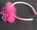 Обручи для волос детские с фатином Микки 12 шт/уп, фото 4