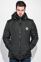 Куртка мужская удлиненная, зимняя, с капюшоном 70PD5010 (Черный), фото 2
