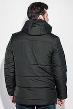 Куртка мужская удлиненная, зимняя, с капюшоном 70PD5010 (Черный), фото 3