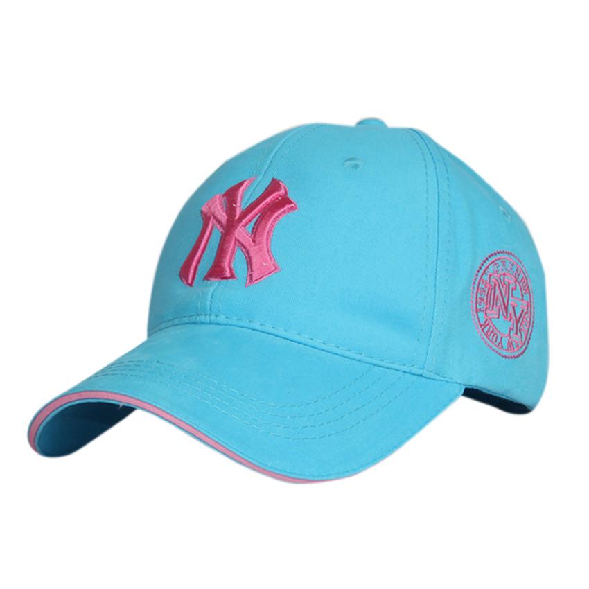 Красивая голубая бейсболка NY- №3023