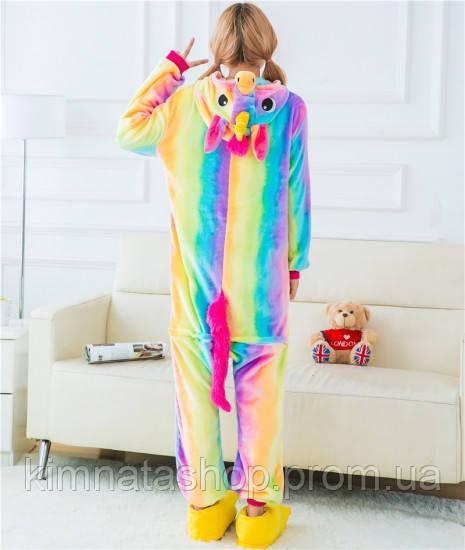 56a89e38680e Пижама Женская Кигуруми Радужный Единорог L Флисовая — в Категории