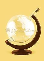 Графин Глобус на деревянной подставке