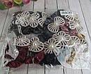 Бархатные резинки для волос со стразами и жемчугом цветные 12 шт/уп, фото 5