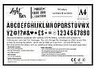 Интерьерный лайтбокс с буквами (А4 102 буквы) , фото 8