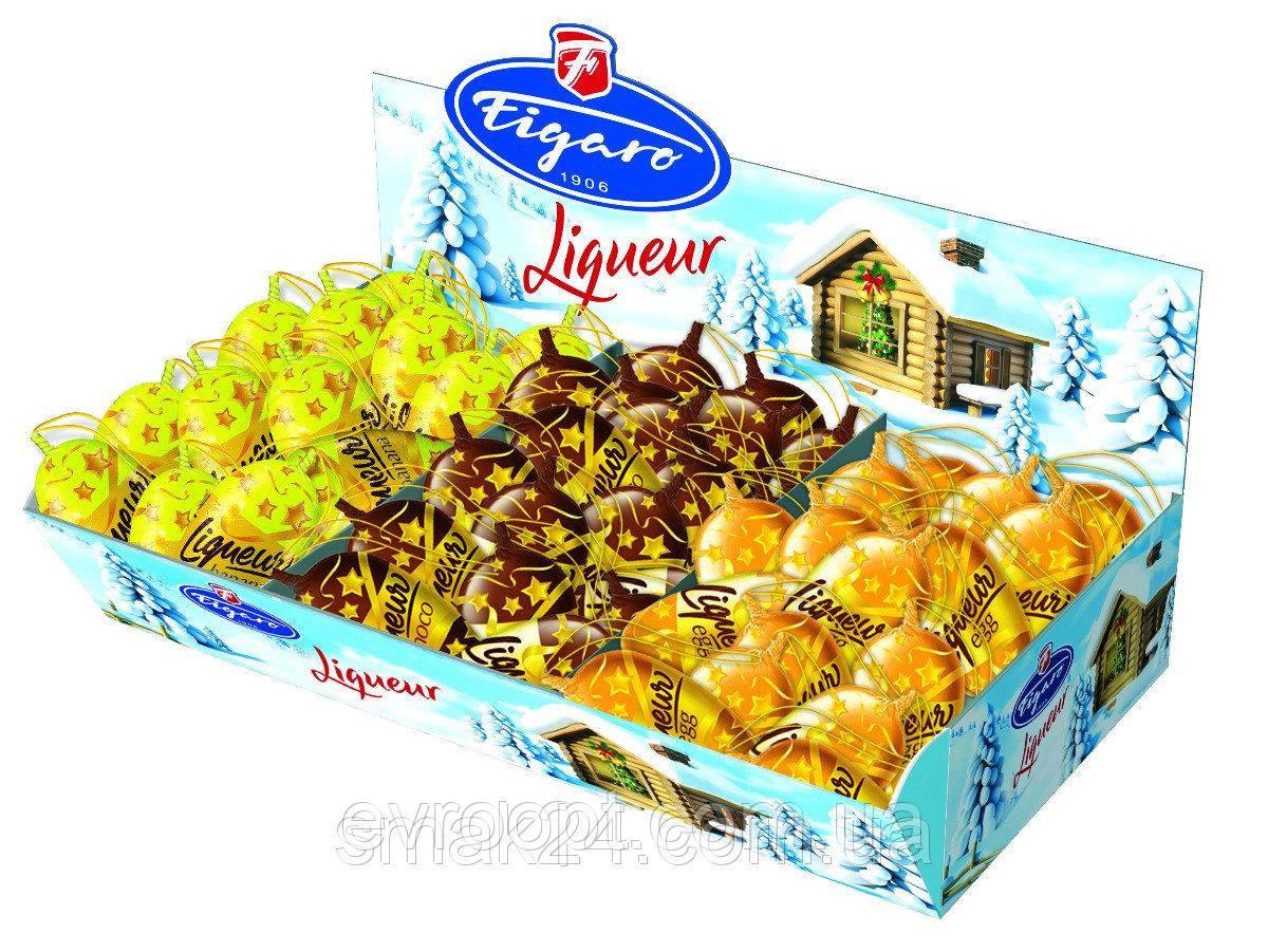 Конфеты шоколадные с ликером со вкусами ( шоколада/ банана / авокадо ) Figaro