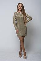 Блестящее женское платье