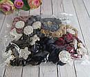 Бархатные резинки для волос со стразами цветные 12 шт/уп, фото 5