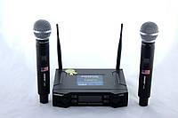 Микрофон беспроводной Shure DM UK 90 динамический, с базой, в наборе 2шт, 1/4 джек, 80db, радиус до 60м, от батареек АА