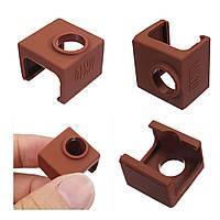 5pcs MK10 Цвет кофе Силиконовый Защитный Чехол Для нагрева алюминиевого блока 3D-принтер Часть Hotend - 1TopShop