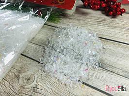 Новогодний декоративный снег-стружка в упаковке 100 г
