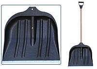 Лопата для снега с черенком, большая