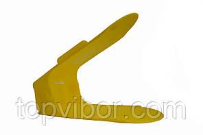 Двойная пластиковая стойка-подставка для хранения обуви - желтая