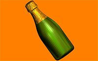 Пластиковая форма  510 - Шампанское под картинку