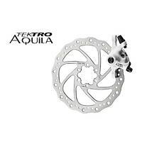 Тормоз передний дисковый  механический Tektro Aquila в комплекте с ротором 160мм+калипер+болты белый