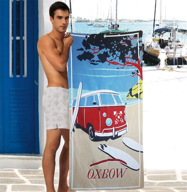 Мужское махровое полотенце - №4440