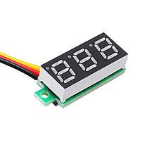 10Pcs Geekcreit® Green 0.28 дюймов 2.6V-30V Миниатюрный измеритель напряжения вольтметра Voltmeter 1TopShop, фото 2