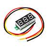 10Pcs Geekcreit® Green 0.28 дюймов 2.6V-30V Миниатюрный измеритель напряжения вольтметра Voltmeter 1TopShop, фото 3