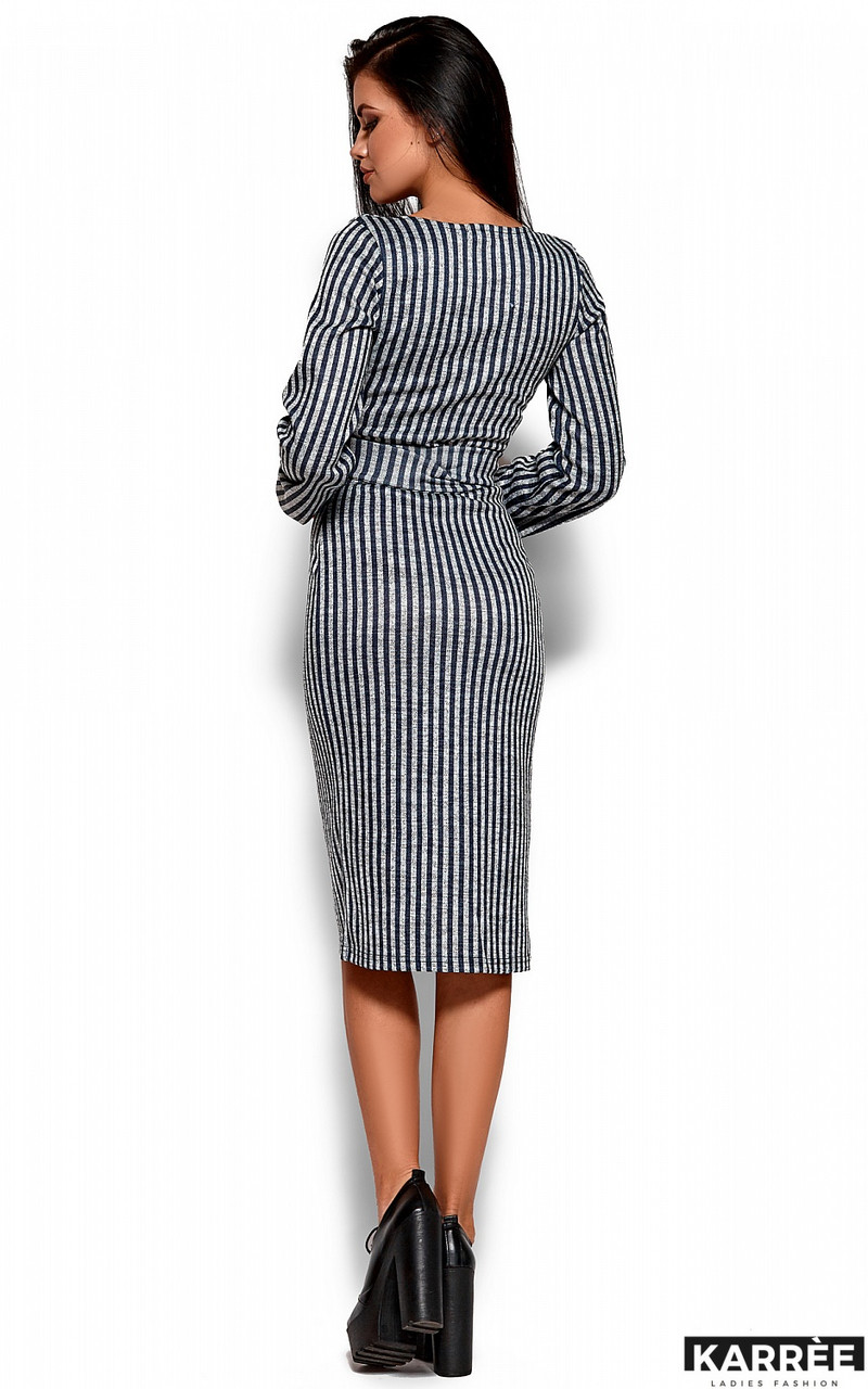 64f6949e8e6 Красивое платье в полоску на запах с декольте  продажа