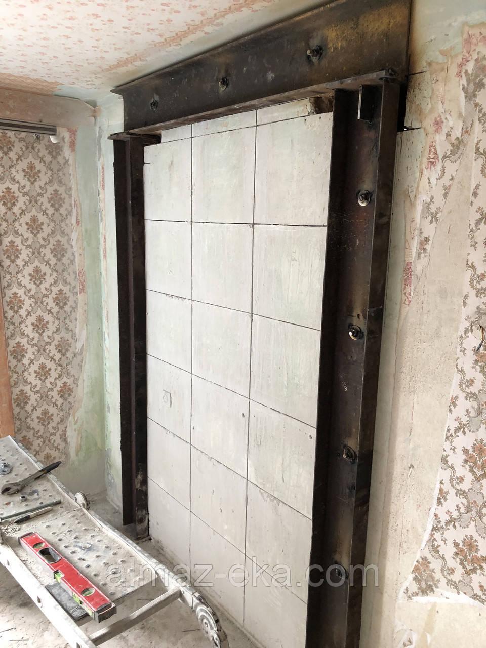 Резка+усиление проемов металлом в Харькове.