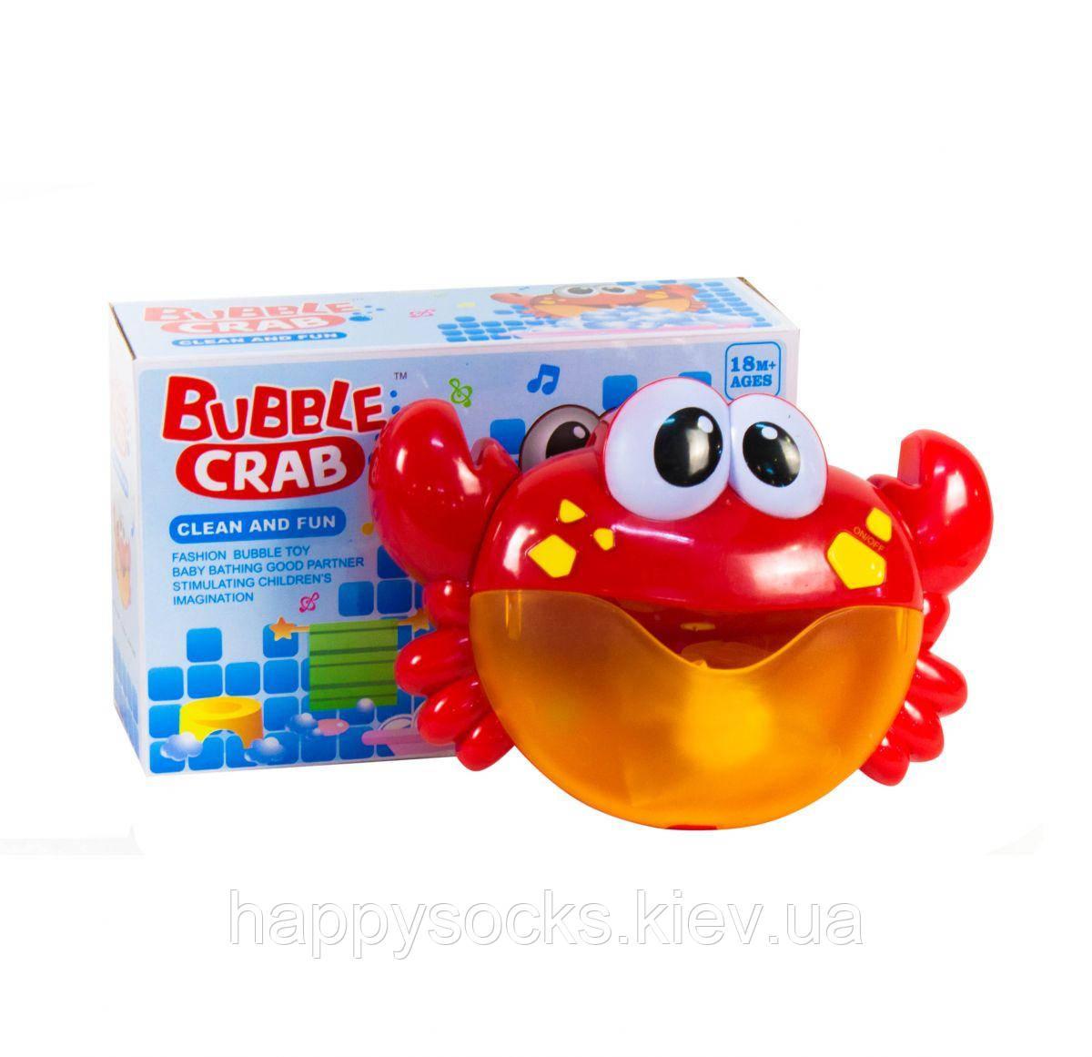 """Игрушка для ванной """"Музыкальный пузырь краб"""""""