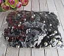 Бесшовные резинки с текстилем и бусинами на заклепках 12 шт/уп, фото 3