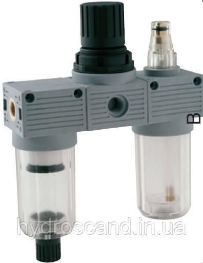 Блок подготовки воздуха (фильтр+регулятор+лубрикатор)