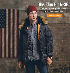 Куртка Alpha Industries (Аляска) N3-B Parka Куртка, Чёрный