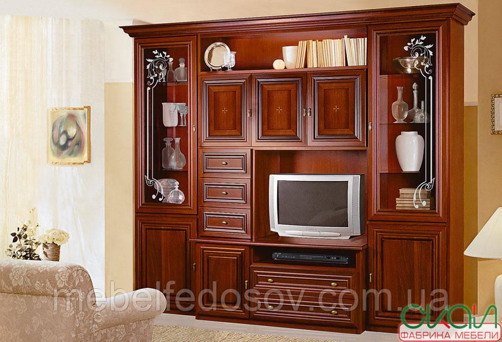 Гостиная Капри витрина  (Скай) 2720х2280х540мм