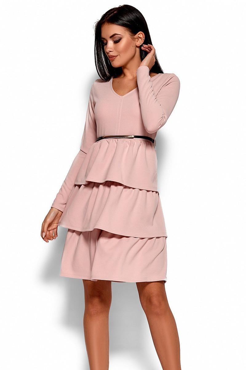(S, M) Вишукане рожеве коктейльне плаття Sharlis