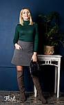 Женская кашемировая юбка с карманами (5 цветов), фото 6