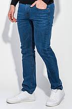 Джинсы мужские потертые 220V001 (Светло-синий), фото 2