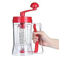 Ручная машина для производства блинов Batter Dispenser Mixer Mix Baking Инструмент Blender 1TopShop