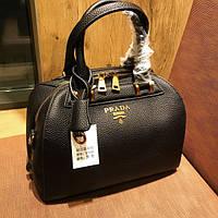Женская сумочка-саквояж Prada (Прада), черный цвет