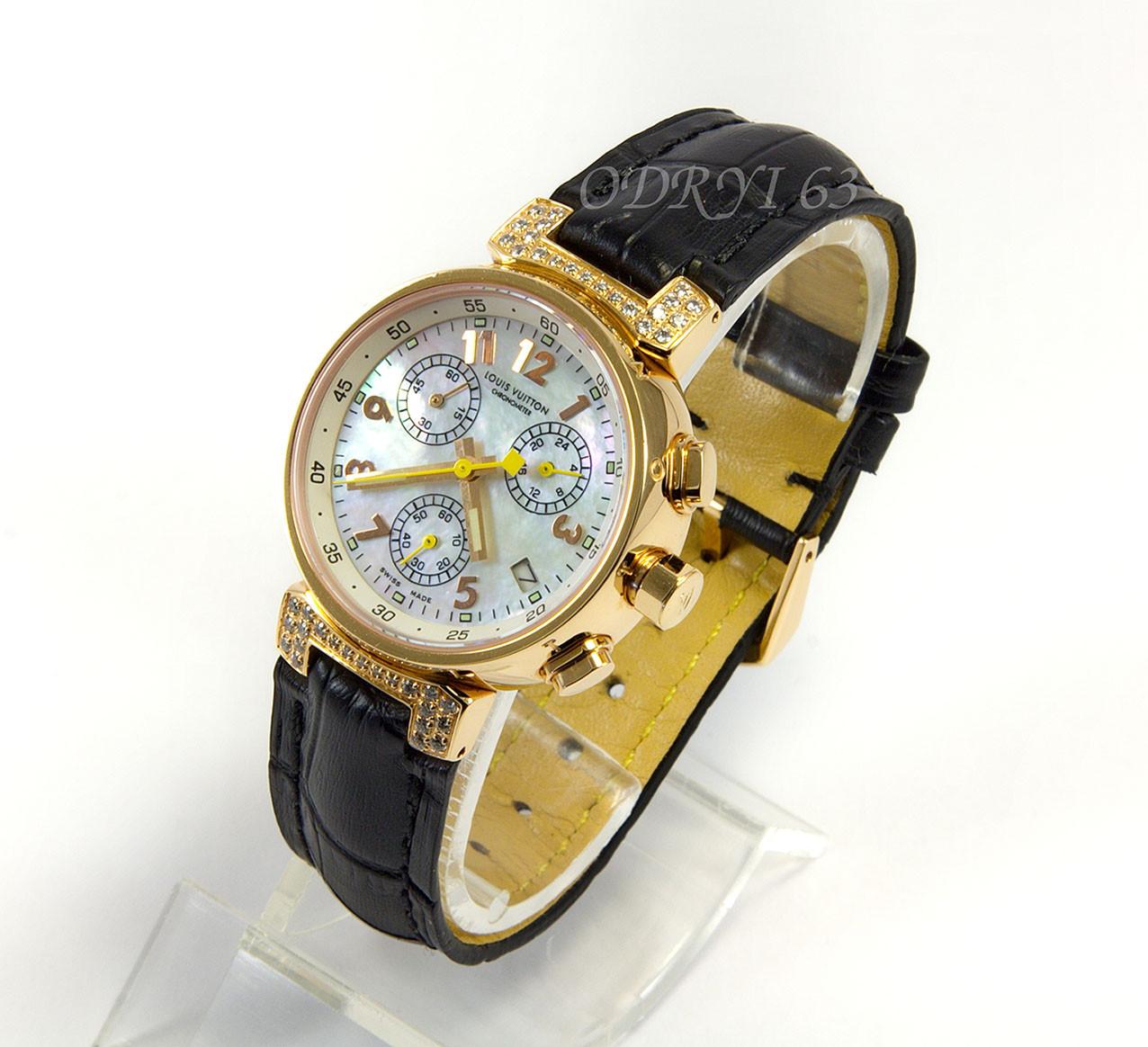 fc856c7f Часы женские наручные Louis Vuitton Tambour Quartz Chronograph -  Интернет-магазин