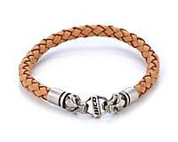 Мужской кожаный браслет Bico Australia коричневый