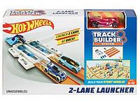 Хот Вилс Двухполосная пусковая установка Hot Wheels Track Builder 2-Lane Launcher Playset