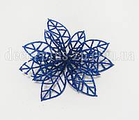 Пуансетия сетчатая 10см, синяя