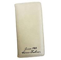 Стильный женский кошелек. Бежевый, фото 1
