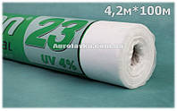 Агроволокно Плотность 23г/кв.м 4,2м х 100м Белое (AGREEN)