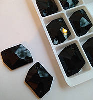 Стразы пришивные Космик (ломаный ромб) 16х21 мм Jet Black, стекло