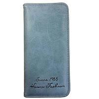 Стильный женский кошелек. Голубой, фото 1