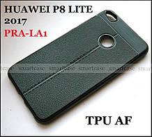 TPU AF черный мягкий чехол под кожу, бампер для Huawei P8 Lite 2017 PRA-LA1 защитный противоударный