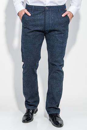 Брюки мужские классические, зауженные 881K003 (Сине-серый), фото 2