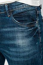 Джинсы мужские стильные, потертые 903K003 (Темно-синий), фото 3