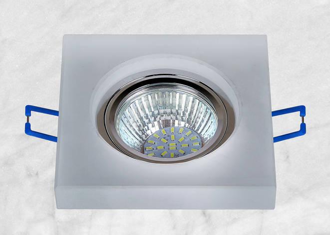 Точечный стеклянный врезной светильник (16-MKD046), фото 2