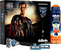 Подарочный набор Gillette Fusion Proshield Chill станок с 1 сменной кассетой + 2 сменные кассеты + гель для бр