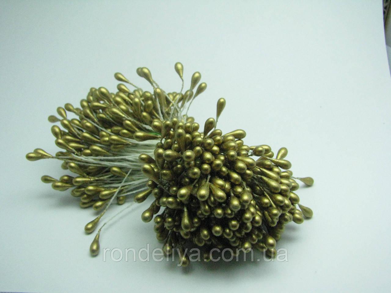 Тычинки для цветов темное золото