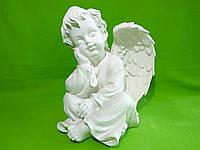Статуэтка из гипса «Ангел задумчивый» белый