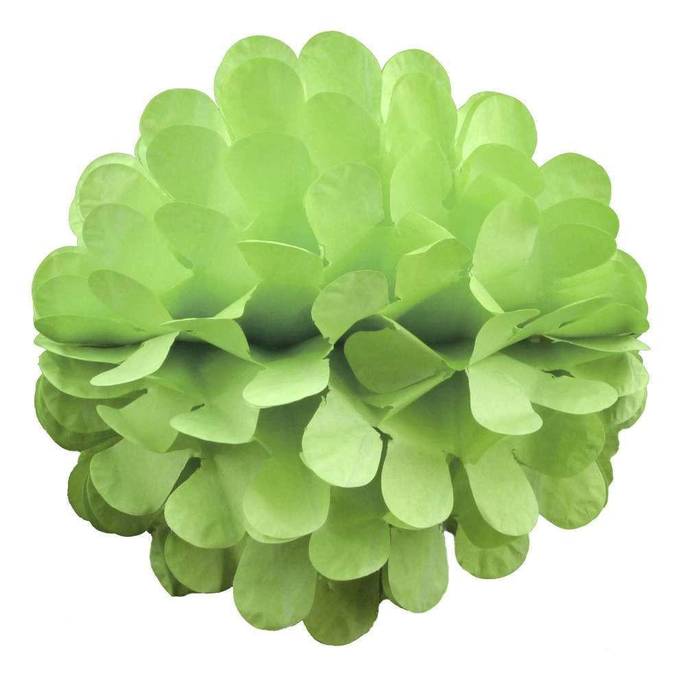 Бумажный шар цветок 20 см салатовый 0013