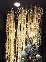 "Гирлянда ""Конский хвост"" 700мини-LED: 28 линий по 2.5 м, цвет - тёплый белый, постоянное свечение"